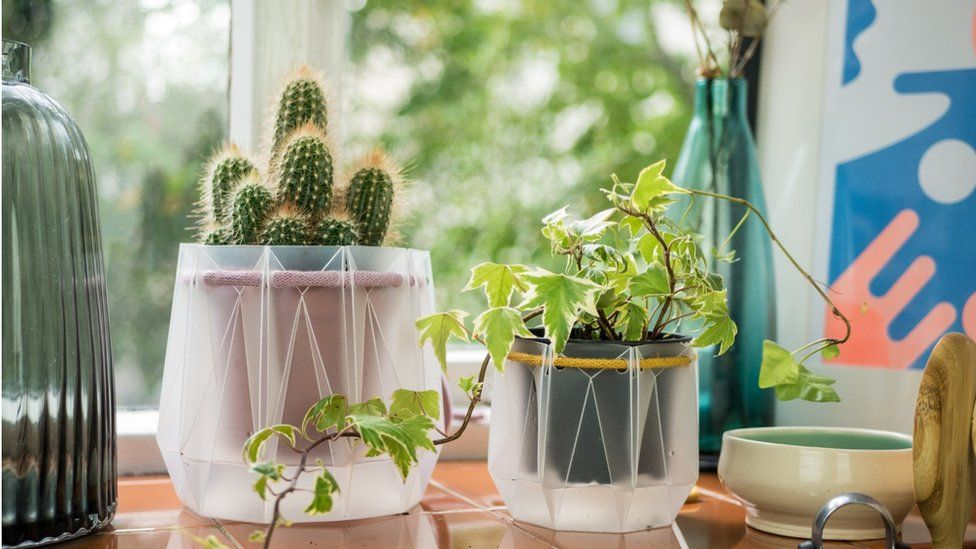 Engineers design flat pack self-watering plant pot