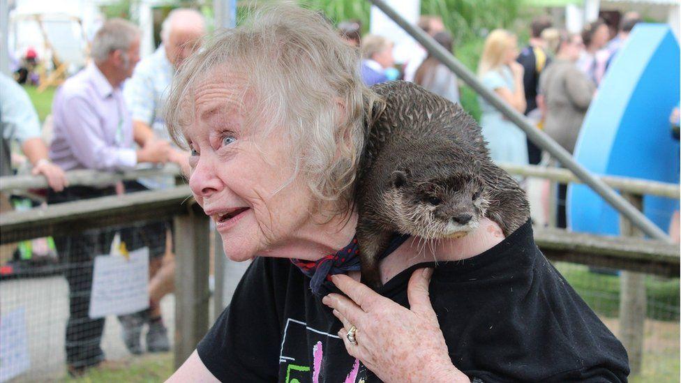 Mae'r dwrgi yma'n llawer hapusach heddiw pan mae'n gymylog // The weather's quite nice today, but yesterday was otter!