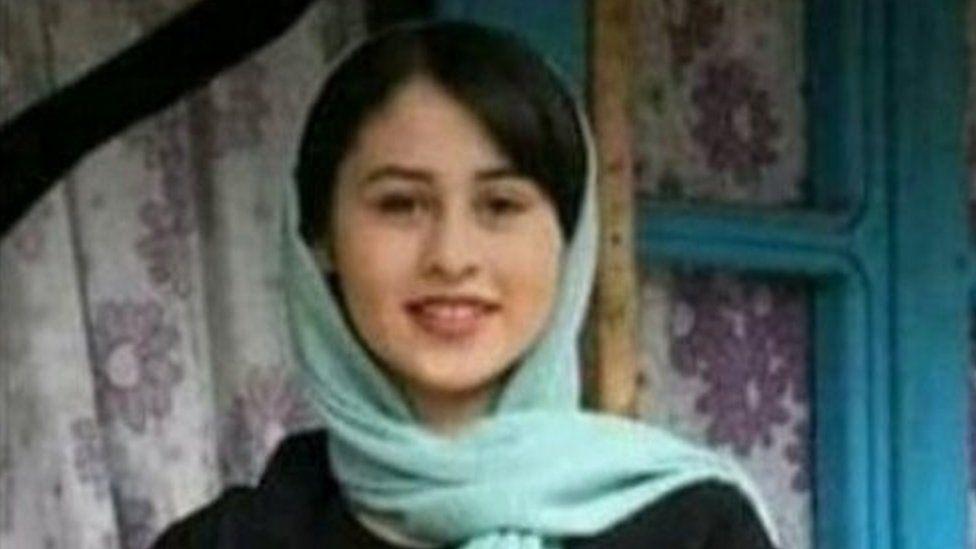 Photo of Romina Ashrafi taken from a death notice in Gilan province, Iran