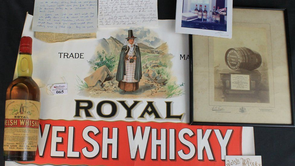 One of the bottles of whisky up for auction