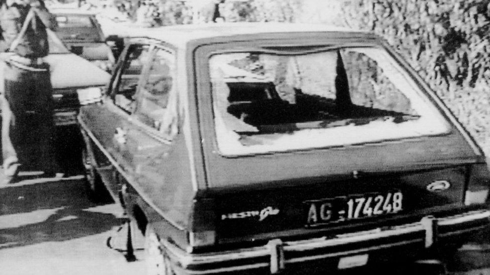The car in which Rosario Livatino was murdered
