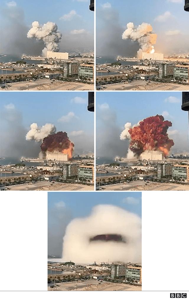 Evolución de la explosión.