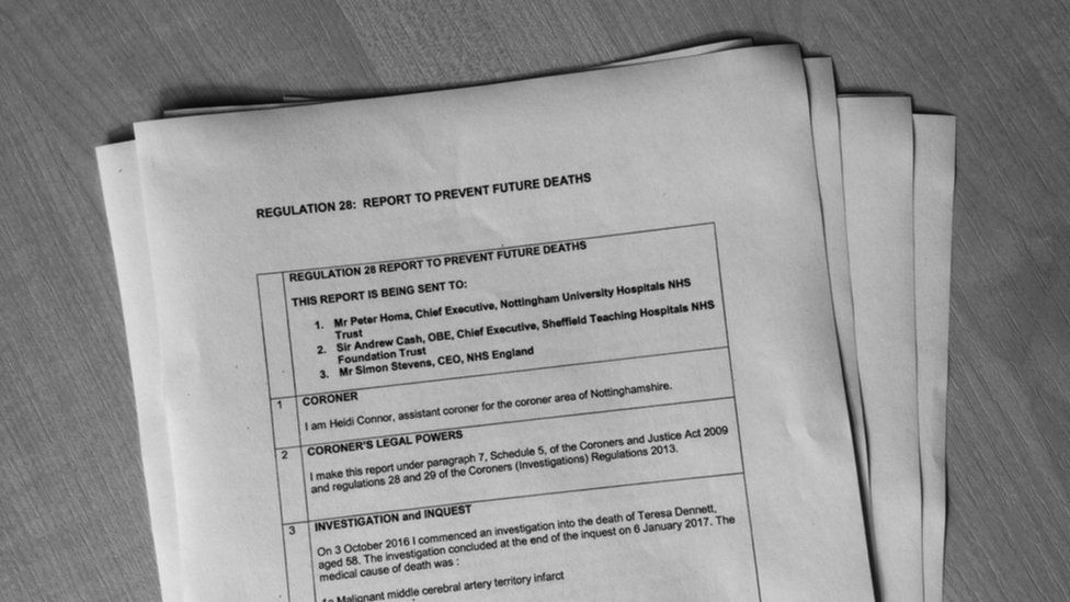 Copy of the Regulation 28 report