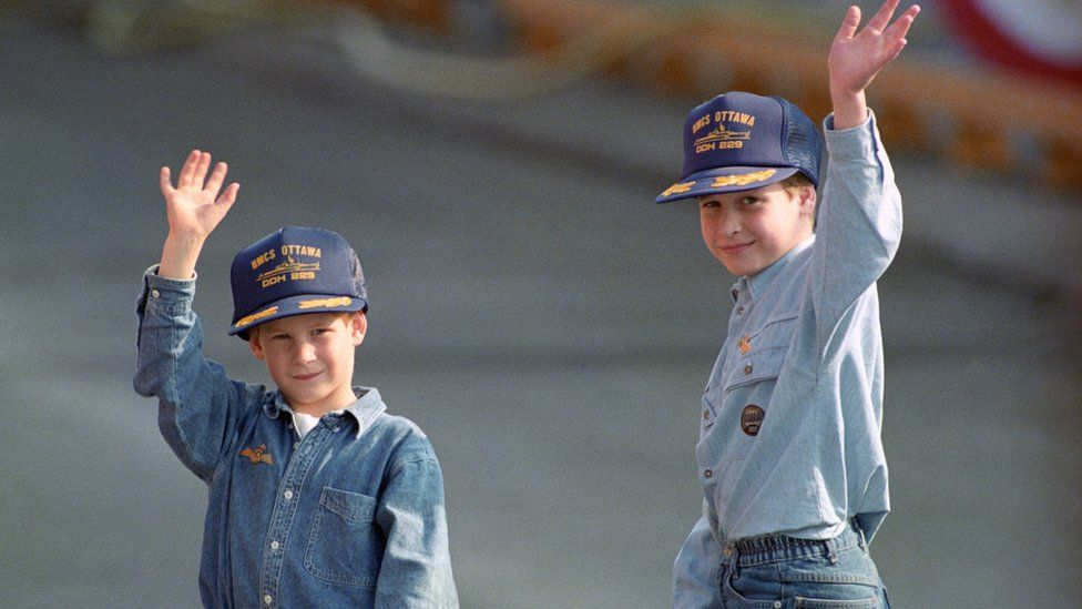 Young brothers in caps