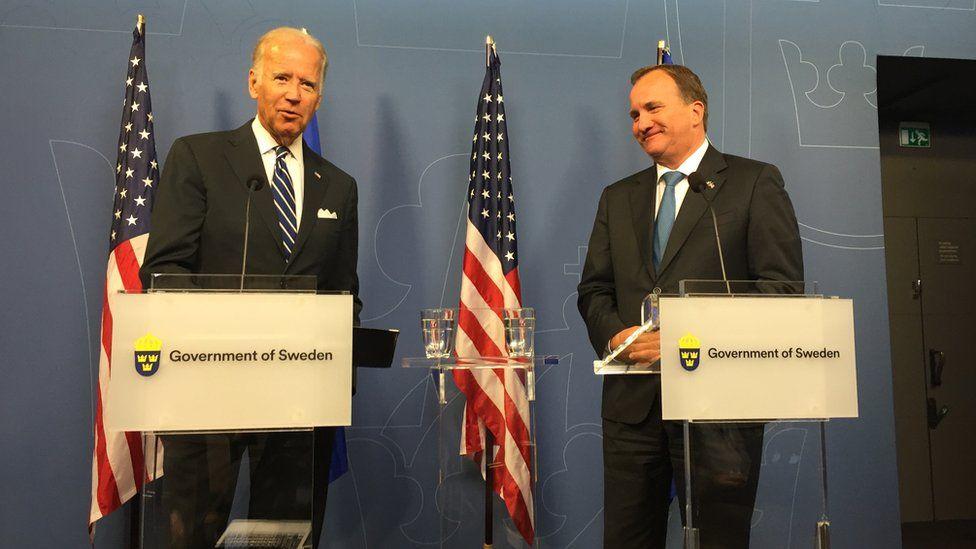 Biden with Swedish government