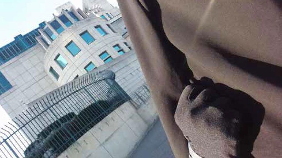 Safaa Boular took this selfie outside MI6's headquarters in south London