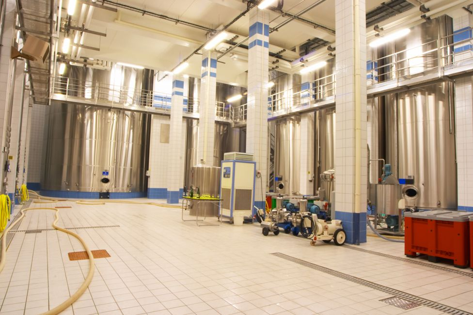 A champagne house blending room