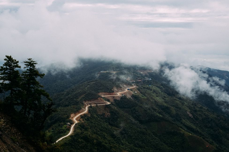 The road to Hakha in Chin State