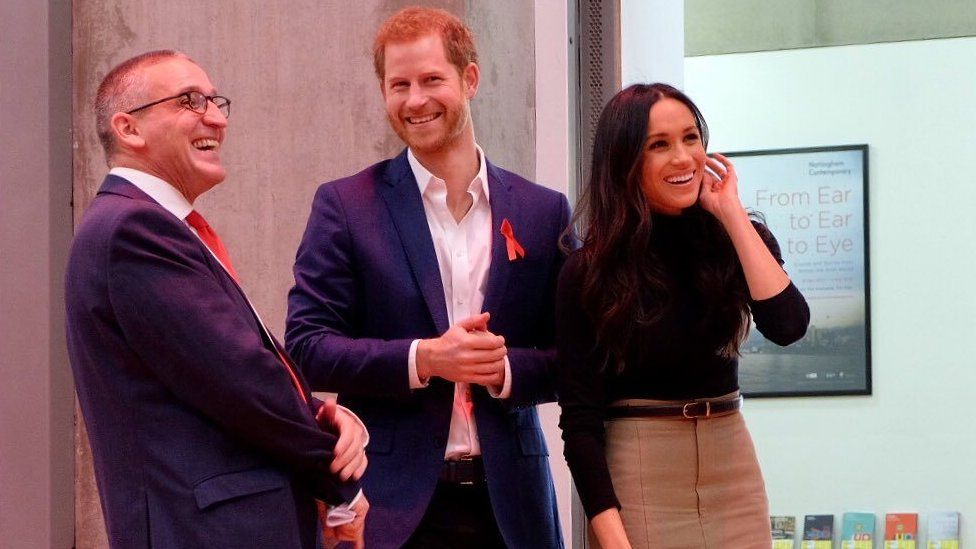 Prince Harry and Meghan Markle at an event to mark World Aids Day