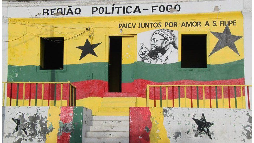 Party office in Sao Filipe, Fogo island
