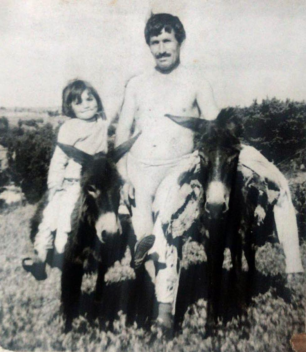 Osman with a donkey