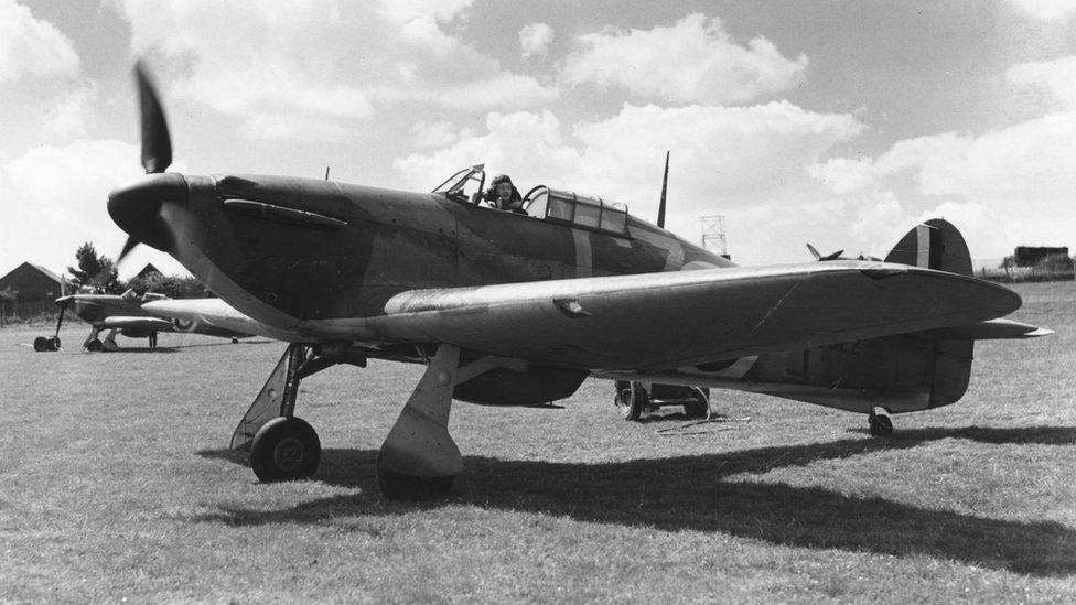 Hurricane fighter jet in 1940