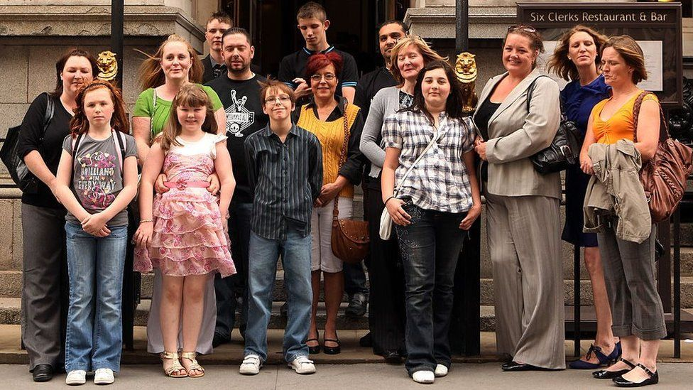 Corby families outside court