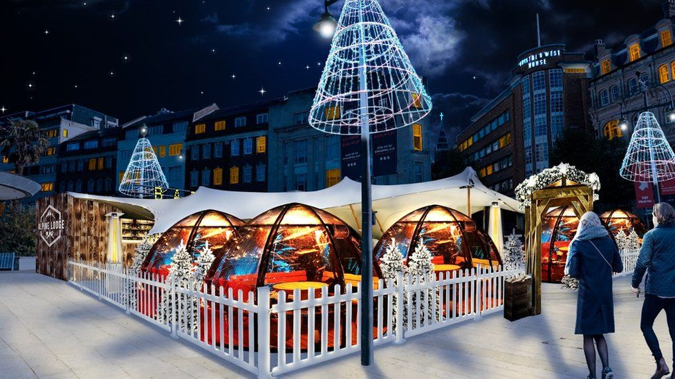 Christmas Markets In Dorset 2021 Covid Lockdown Bournemouth S Christmas Igloos And Market Cancelled Bbc News