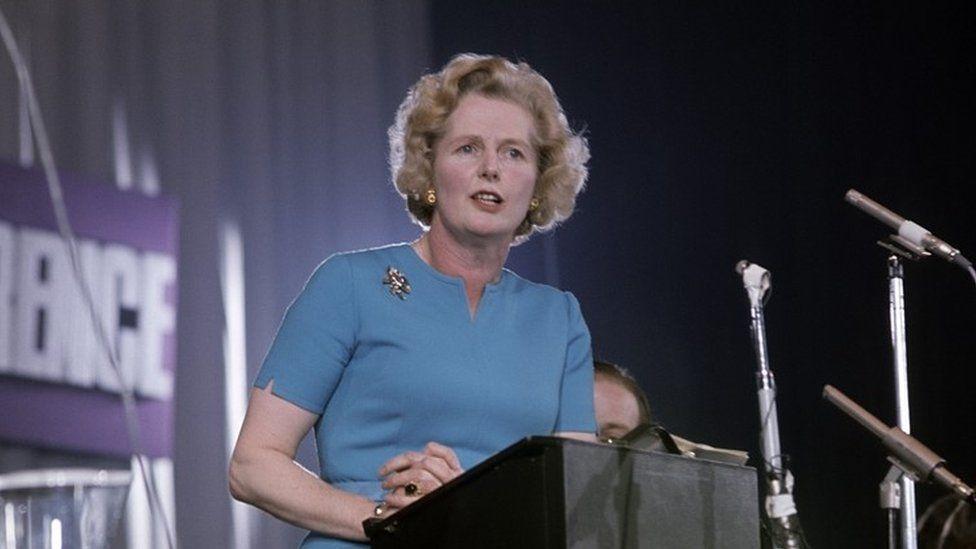 Margaret Thatcher in Eastbourne, 1975