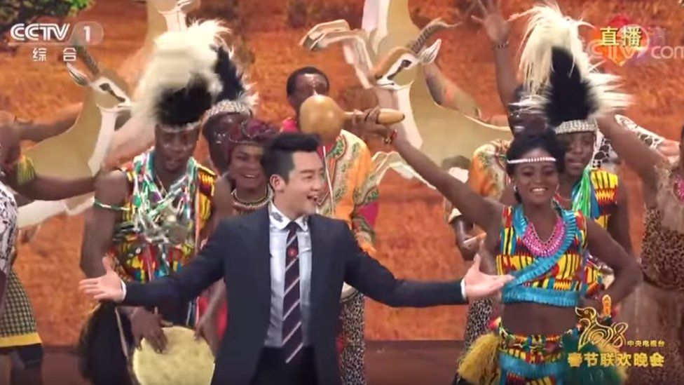 Spring Festival Gala with Chinese actors in blackface