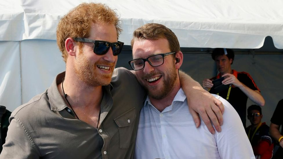 Prince Harry and JJ Chalmers