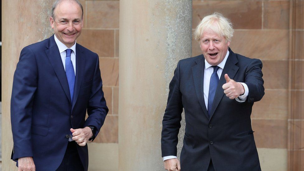 Taoiseach Micheál Martin and Boris Johnson