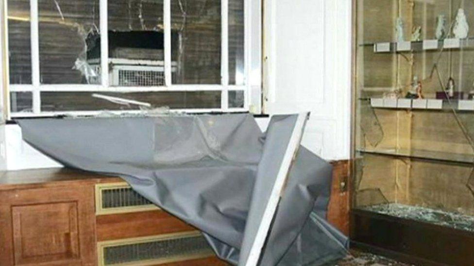 Damage to Fitzwilliam Museum
