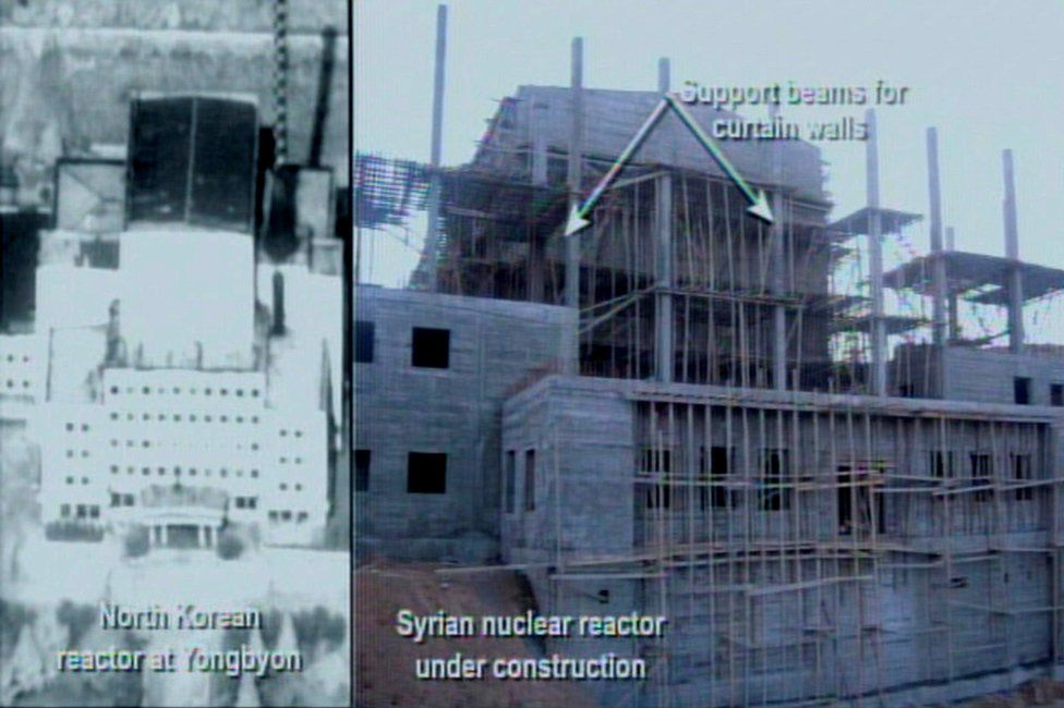 File handout from US government purportedly showing the reactor under construction 21/03/2018
