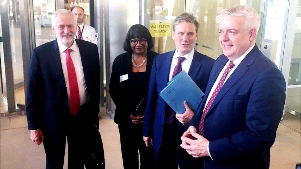 Jeremy Corbyn, Diane Abbott, Keir Starmer and Carwyn Jones