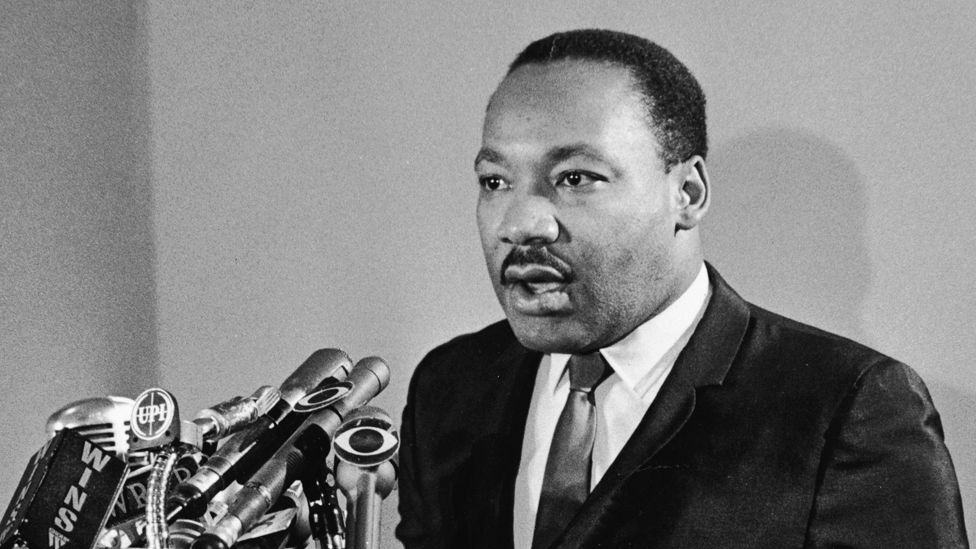 American Civil Rights leader Martin Luther King, Jr. (1929-1968) speaks at a press conference for Clergy & Laymen Concerned About Vietnam, held at the Belmont Plaza Hotel, New York City, January 12, 1968.