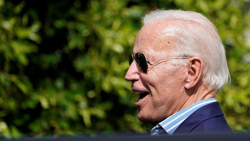 Joe Biden leaves after attending a fundraiser in Manhattan Beach, California, U.S. September 25, 2019