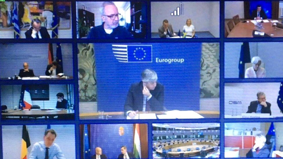Video conference of Eurogroup ministers