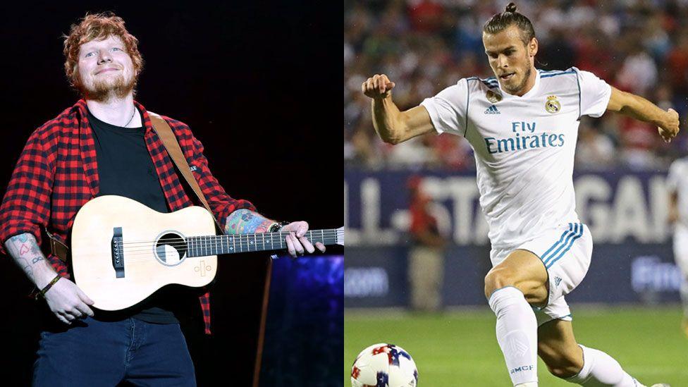Ed Sheeran and Gareth Bale