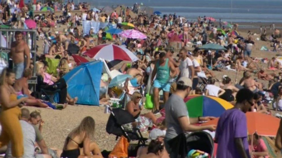 Coronavirus: Resort locals 'shocked and angry' at beach crowds ...