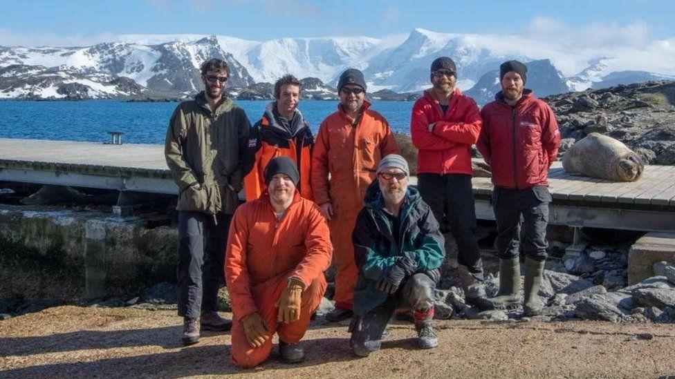 British Antarctic Survey base crew
