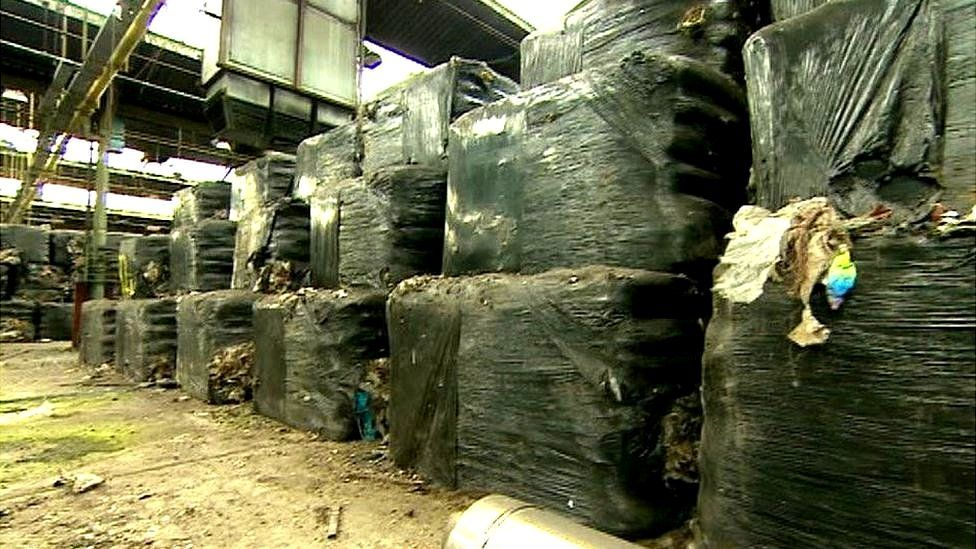 The waste bales