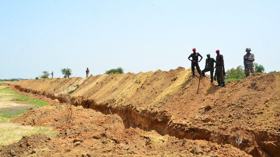 Trench at University of Maiduguri