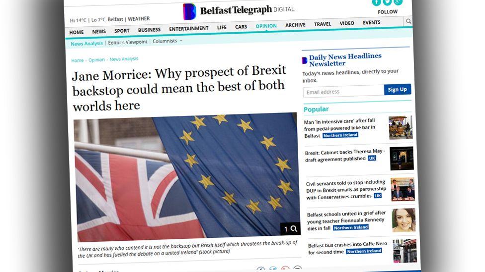 Screengrab from Belfast Telegraph