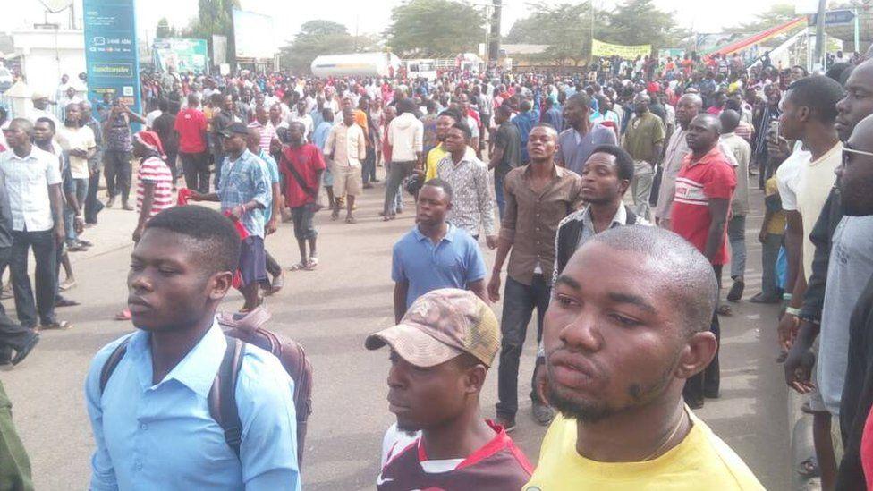 protesters for Makurdi