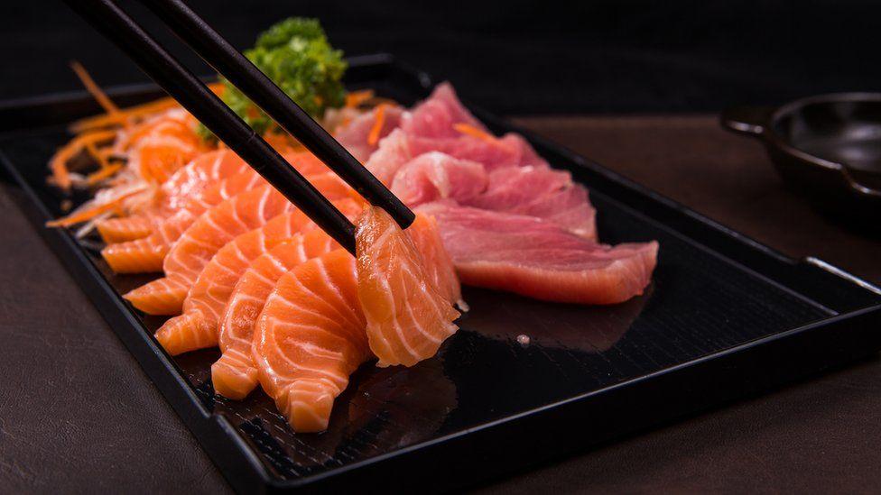 Sashimi or raw fish