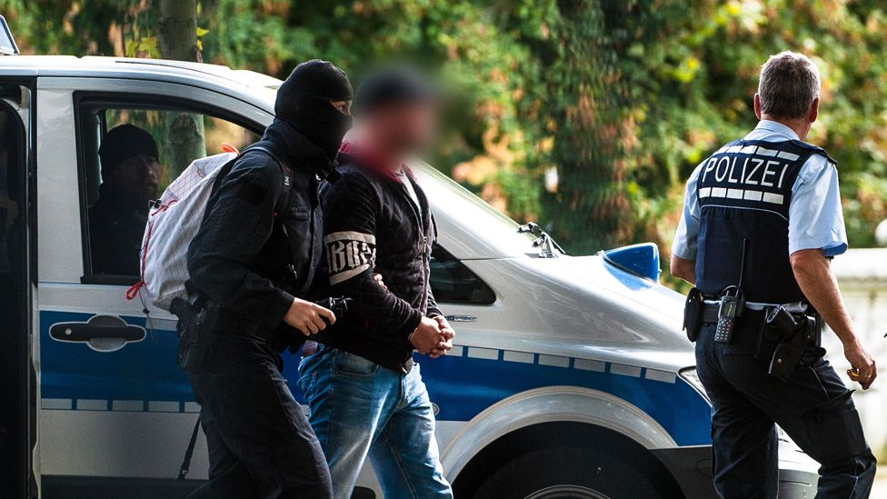 Arrest of one of the neo-Nazi suspects, 1 Oct 18