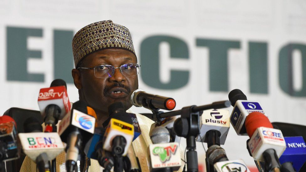 Mahmood Yakubu, chairman of the Independent National Electoral Commission.