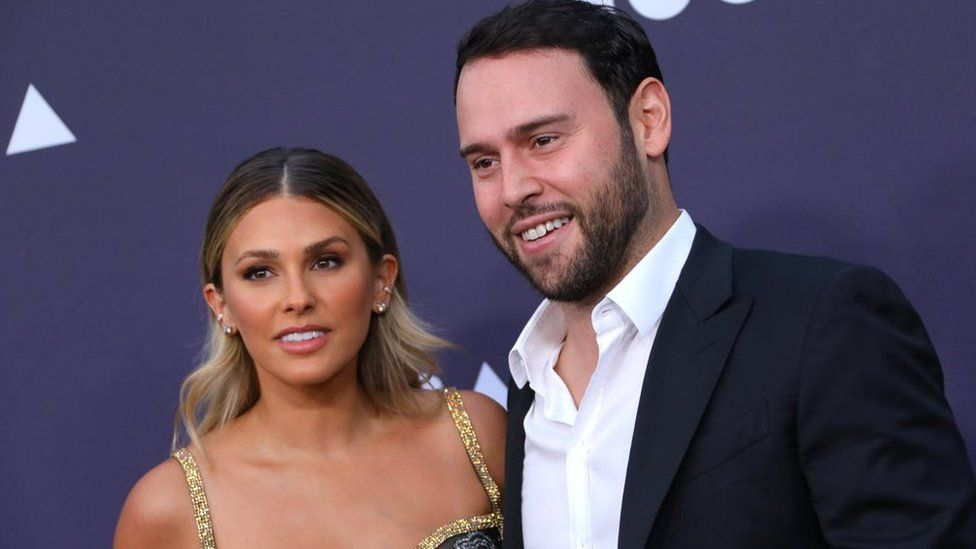 Scooter Braun and Yael Cohen