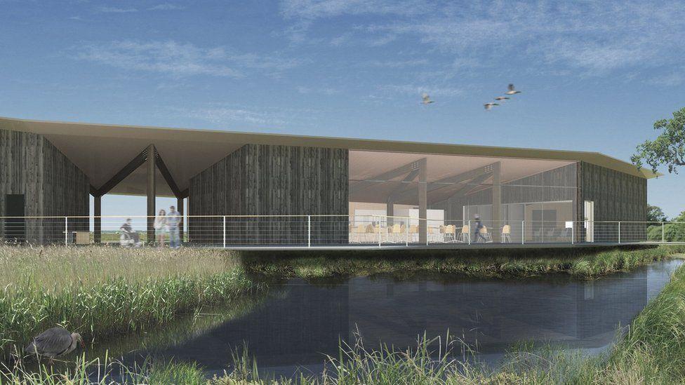 Artist's impression of new visitor centre