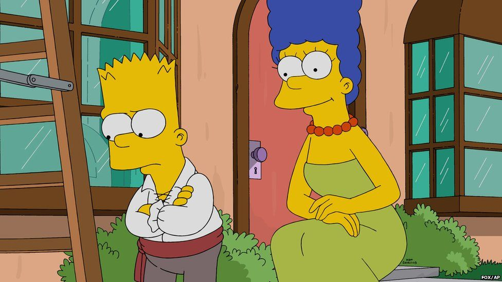 Bart and Marge Simpson