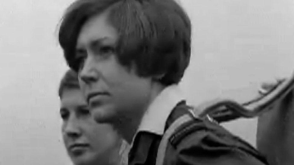 Penny Mason in 1969 on British Pathe footage