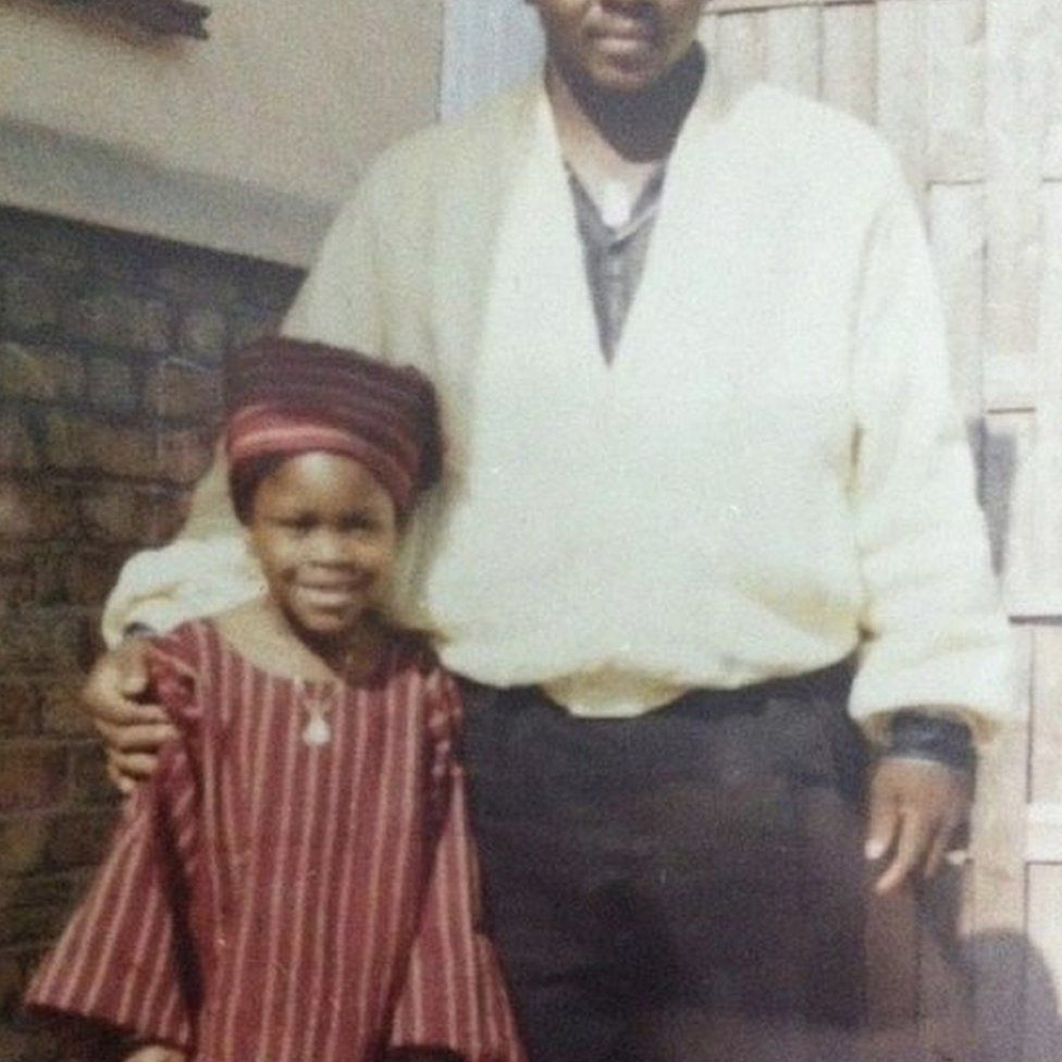 Gina Atinuke Knight with her uncle
