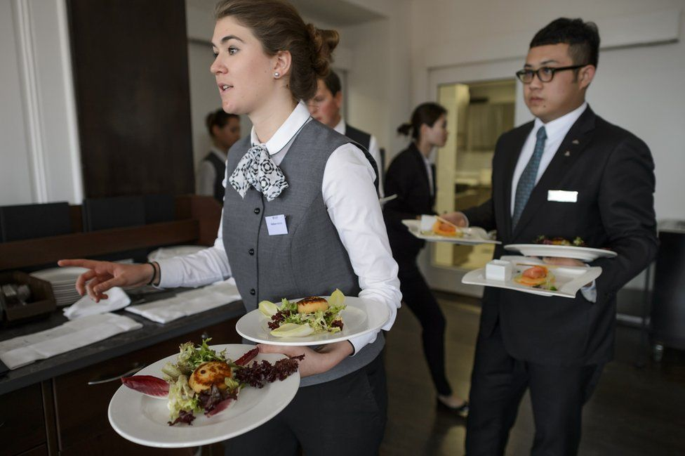 Students at Glion hotel management school, 14 Apr 15