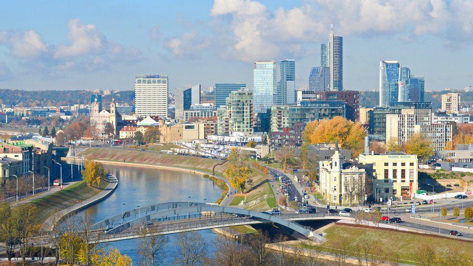 City shot of Vilnius, Lithuania