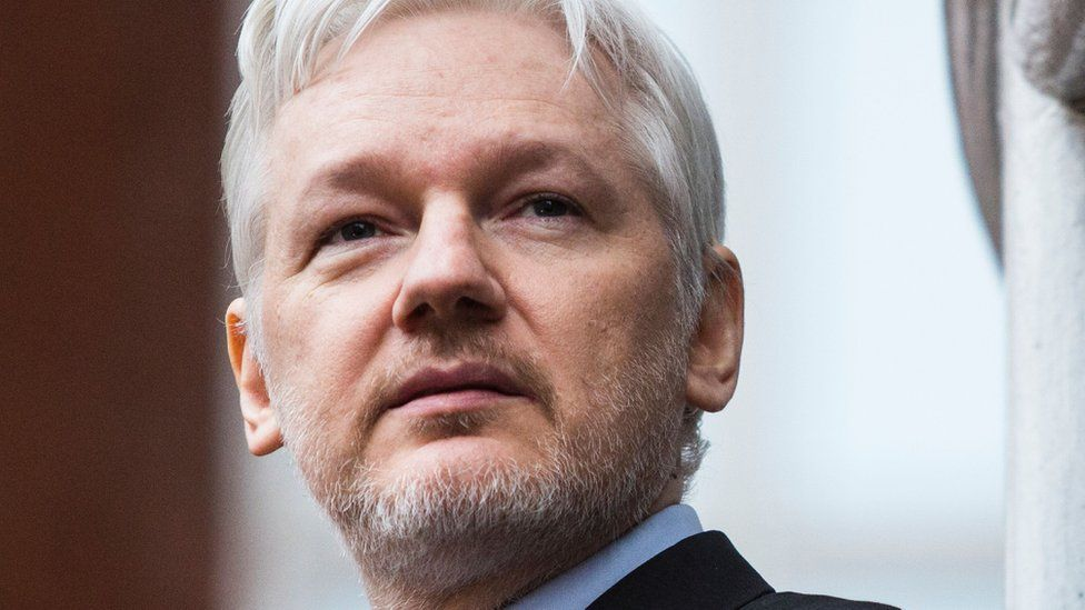 Wikileaks founder Julian Assange at the Ecuadorean embassy in central London, 5 February 2016