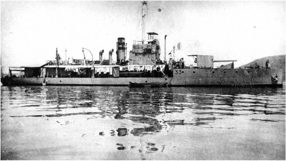 HMS M.33 at the Dardanelles
