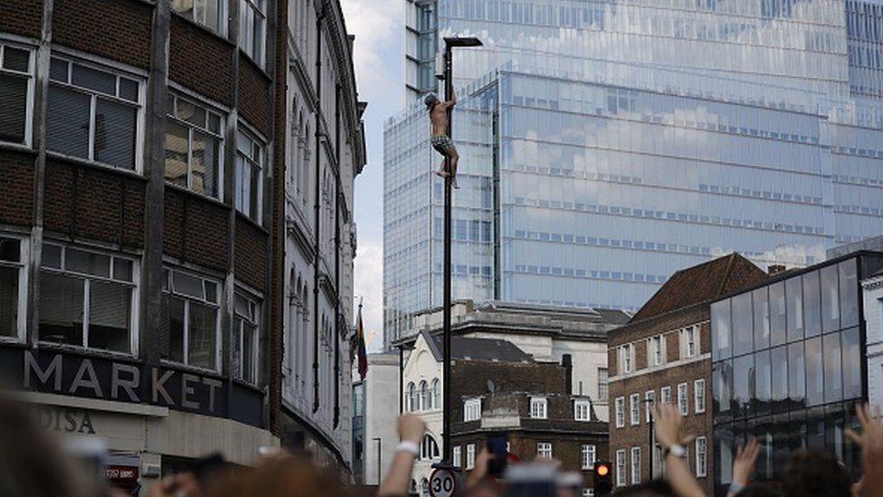 Climber in Borough High Street