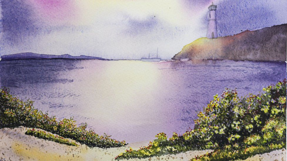 Painting of seascape by Naomi