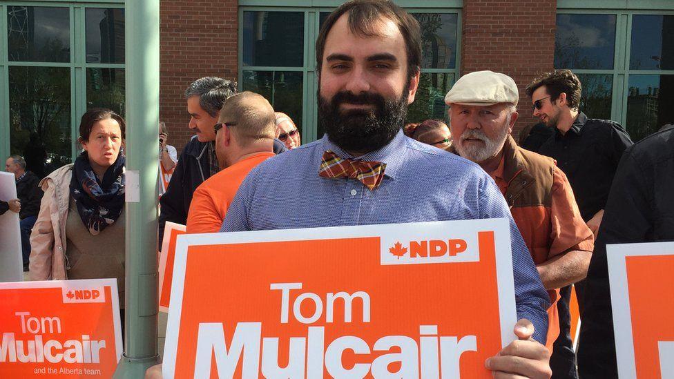 Alex Shevalier, an NDP supporter